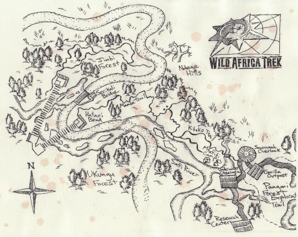 Wild Africa Trek Route Map