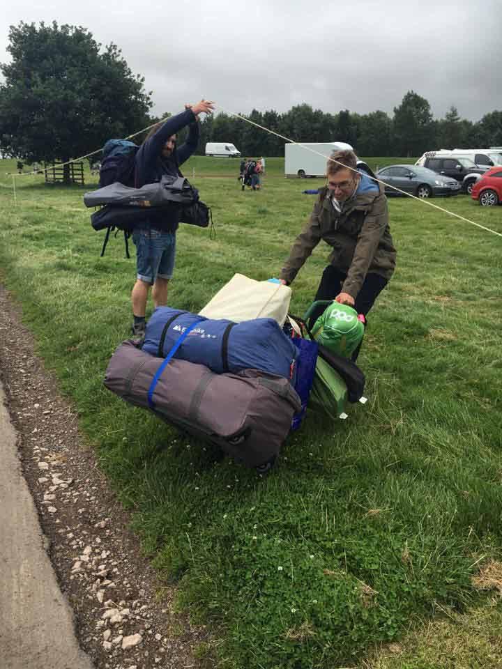 Kendal Calling Pitching Tent