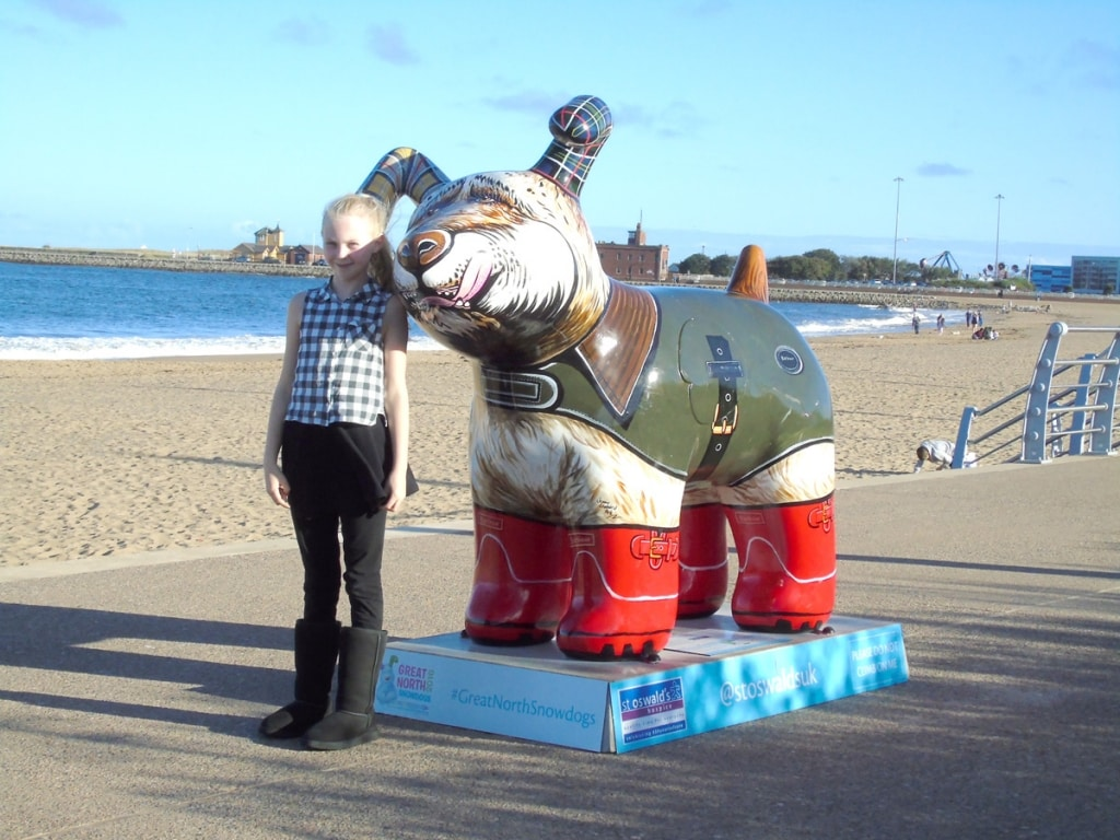 Great North Snowdogs - Dog on the Groyne
