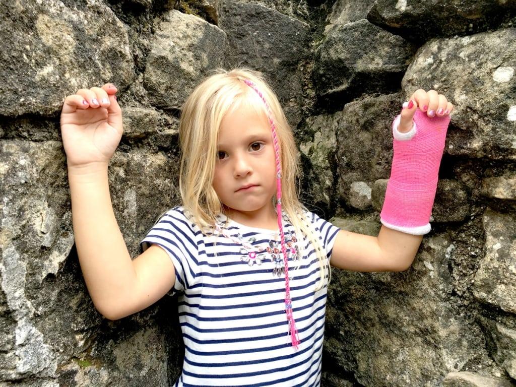 Abigail Hooper Broken Wrist