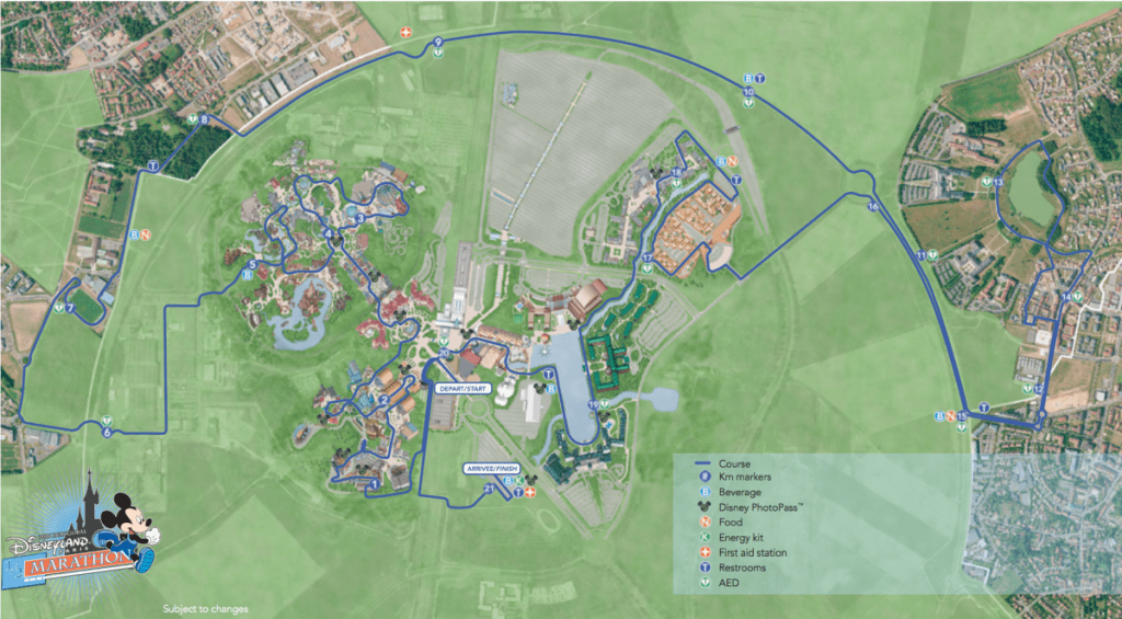 Disneyland Paris Half Marathon Route 2016