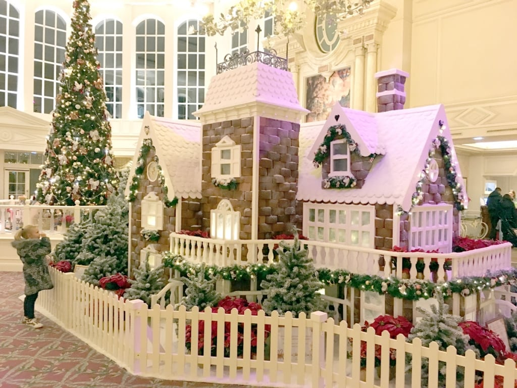 Gingerbread house at Disneyland Hotel