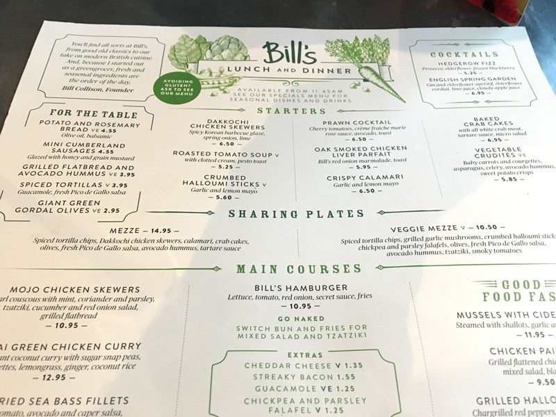 Bills Hammersmith