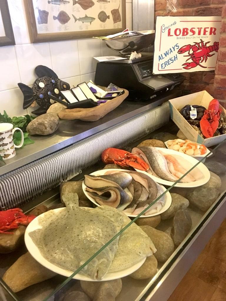 cafe fish fish display