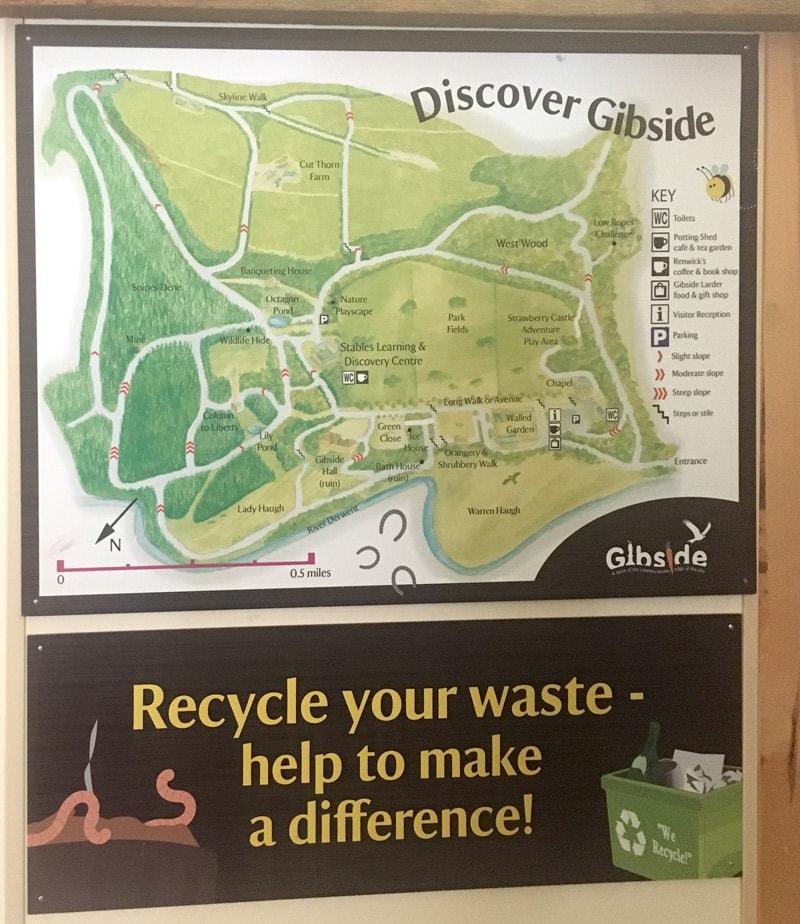 Gibside Map