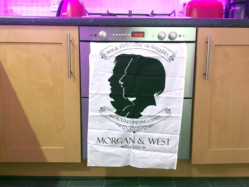 Morgan and West Tea Towel