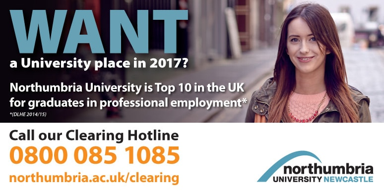 Northumbria University through Clearing