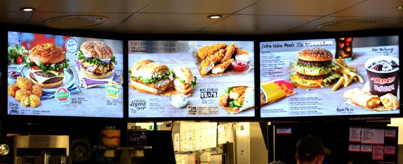 McDonalds Menus