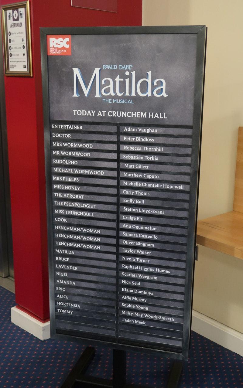 Matilda The Musical Sunderland Cast