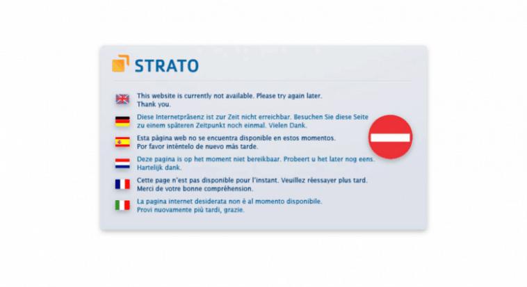 Strato Hosting Down