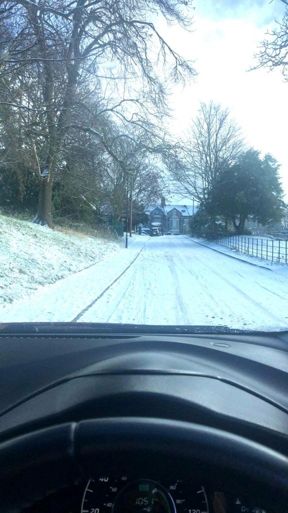 Icy road drama