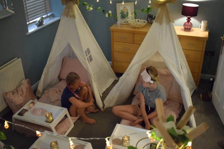 Fun TeePee Sleepover ideas