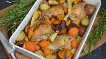 Left Overs recipe ideas - Rosemary Chicken bake